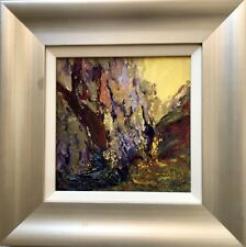 Painting Original Small Abstract Modern New Bob Abrahams Wall Art