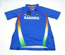 Nike Sahara India Cricket Jersey Mens M Blue Short Sleeve Stretch Dri Fit New