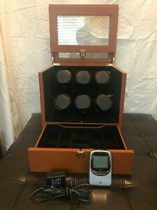 Orbita Monaco 6 Module Watch Winder AND Portable Atomic Timer, Retail $3995
