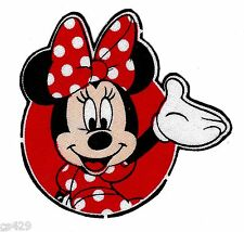 "2.5"" DISNEY MINNIE MOUSE  FABRIC APPLIQUE  IRON ON CHARACTER"