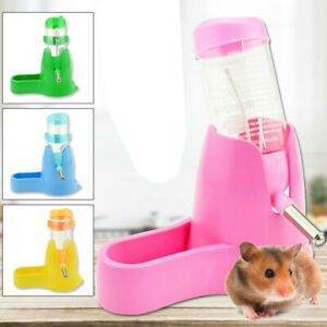 3 in 1 Hamster Water Bottle Holder Dispenser With Base Hut Small Animal Nest