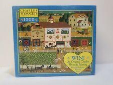 "Charles Wysocki Americana ""Amish Neighbors"" MB puzzle 1000 pieces"