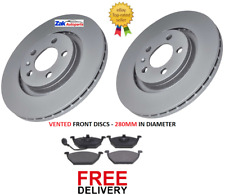 FOR VW BEETLE (99-08) AND VW BORA (98-04) 2 FRONT BRAKE DISCS AND PADS SET *NEW*