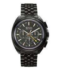 Bulova ACCU Swiss Men's 65B160 Telc Automatic Chronograph Black Band 40mm Watch