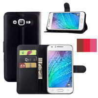 PU Leather Flip Card Holder Wallet Phone Case Cover For Samsung Galaxy J7 Neo