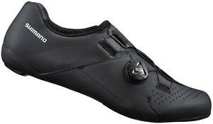 Shimano RC300 E-Width Road Bike Shoes Black Wide Fit