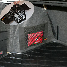 Car Trunk Seat Back Elastic String Net Storage Magic Tape Bag Pocket For Benz