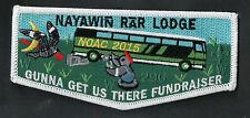 296 Nayawin Rar 2015 NOAC Gunna Get us There Fundraiser OA Flap