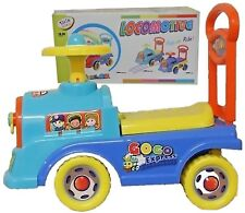 Push Along Ride On Walker Toy Car Children Locomotive Theme  With Clock Face