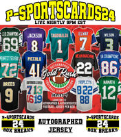 2020 GOLD RUSH AUTOGRAPHED AUTO NFL FOOTBALL JERSEY LIVE BOX LIVE BREAK #3760