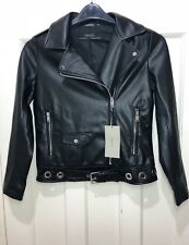 ZARA FUAX LEATHER LONG SLEEVES JACKET JACKET WITH EYELETS SIZE XS BNWT
