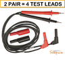 (2 PAIR) SIMPSON 00043 RED & BLACK TEST PROBE SET THREADED FOR 260-8 AUTHORIZED