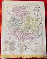 Old Map 1900 France Département Côte d'or Châtillon sur Seine Dijon Beaune