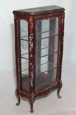 1:12 Display cabinet mahogany with handpainted decorations Vetrina mogano -15%
