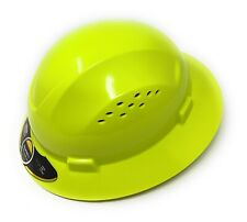 Hdpe Lime Full Brim Hard Hat With Fas Trac Suspension