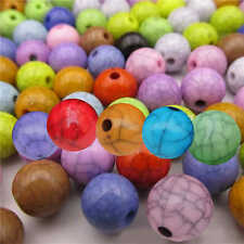 50×8mm Crackle Round Loose Spacer Colorized Beads Mixed Colours Wholesale Bulk