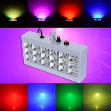18Leds RGB Voice Auto Control Led Stage Strobe Light Flash DJ Disco Lighting UK