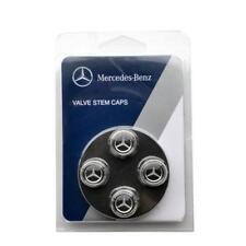 Original OEM MERCEDES-BENZ valve stem caps, BLUE LAUREL  with MB Star - SET OF 4