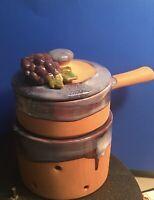 Terracotta Dip Fondue Cookware Glazed Grapes