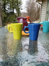 set 2 LATTE MUG CUP lapis lemongrass FIESTA WARE new