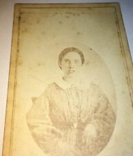 Antique Southern Victorian American Woman, Beautiful Portrait Old CDV Photo! US
