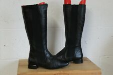 BLACK LEATHER FLAT RIDING STYLE BOOTS SIZE 4.5 BY AUTOGRAPH USED CONDITION