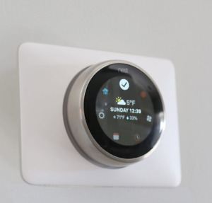 GOOGLE NEST LEARNING THERMOSTAT WALL PLATE COVER E And 3rd Gen  (WHITE)