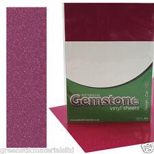 A4 Rose Pink GEMSTONE Glitter Self Adhesive Sign Vinyl Craft Plotter Sheets