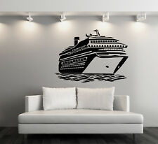 Vinyl Decal Wall Sticker Big Ocean Cruise Liner Sea Voyages Decor (n860)