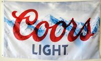 Coors Light Beer Banner Flag 3' X 5' Deluxe indoor Outdoor man cave US Seller