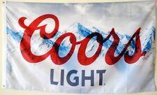 Coors Light Beer Banner Flag 3' X 5' Deluxe indoor Outdoor man cave US Seller