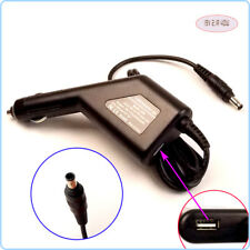 Netbook DC Power Adapter Car Charger +USB for Samsung N310-13GB CPA09-002A