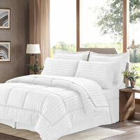 8-Piece Down Alternative Bed in a Bag Comforter Set - Assorted Colors & Sizes