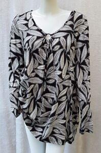 Neu - Damen Tunika - Gr. 56/58 - Langarmshirt Longsleeve Blusenshirt - Fashion