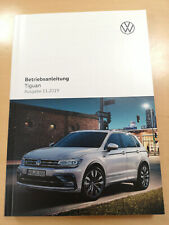 VW TIGUAN 2020 Bedienungsanleitung Betriebsanleitung (Ausgabe 11.2019) *NEU*