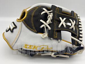 "Japan SSK Special Pro Order 11.5"" Infield Baseball Glove Black White RHT SALE"