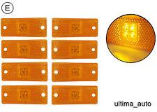 8X 12V 24v LED amber orange side marker lights lamps trailer truck lorry E-mark