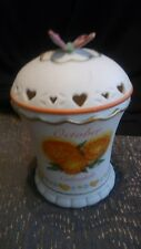 October Calendula By Avon Candle Holder With Butterfly