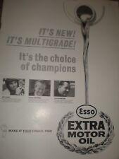 Esso Jim Clark Colin Chapman Jack Brabham oil advert 1964 ref AY