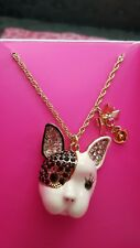 $35 Betsey Johnson French Bulldog Necklace #9
