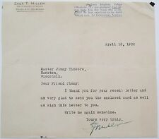 Miller Brothers ''101 Ranch Wild West Show'' Zack T. Miller Signed Letter 'Rare'