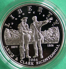 2004 Lewis & Clark Bicentennial Proof 90% Silver Dollar Commemorative Coin ONLY