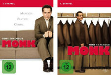 8 DVDs  * MONK -  STAFFEL 3 + 4 IM SET  # NEU OVP +