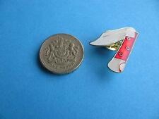 Nouvelle poche/Stylo Couteau pin badge émail collection objet. Rouge. (insigne pas couteau)