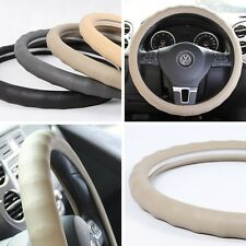 "Tan PVC Leather CAR Steering Wheel Wrap Cover Lexus Mazda Jeep 14""-15"" 38cm"