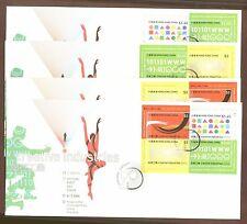 Hong Kong: 2005 Creative industries, 4 diff. sheetlets on 4 FDCs, 1145-8 var.