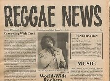 REGGAE NEWS mint 1979 Vol. 2 #3/4 with lengthy Peter Tosh interview, A.Pablo etc