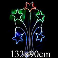 Animated 133cm LED Firework Shooting Star Tree Christmas Motif Rope Lights