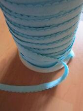 ( 0,98 € / m)  5 m  Kanten Gummiband ca : 1 cm Breit Farbe : Türkis   (K G B Tür