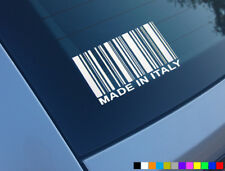 MADE IN ITALY FUNNY CAR STICKER DECAL VINYL WINDOW FIAT ALFA ROMEO NOVELTY PUNTO